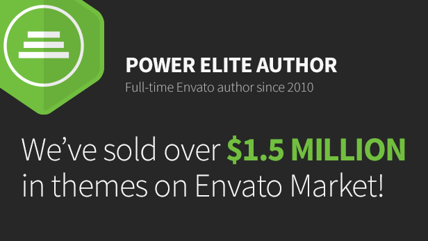 Power Elite Author - Over $1.5 million in themes sold.