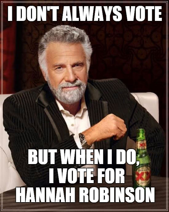 Most Interesting Voter in the World